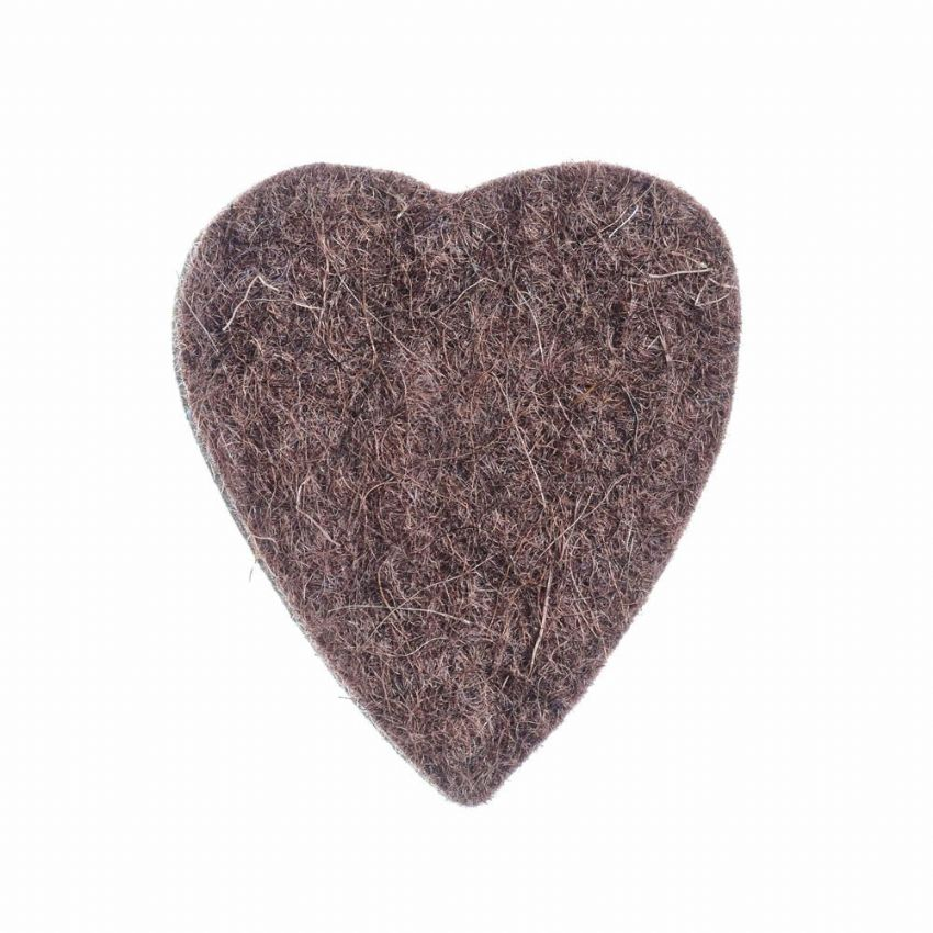 Felt Tones Heart - Brown - 1 Ukulele Pick | Timber Tones